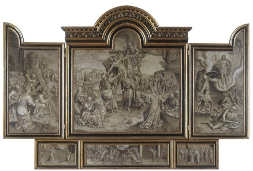Pieter Pourbus c1523to84 Triptiek met de Kruisafneming 1570 Groeningemuseum Bruges