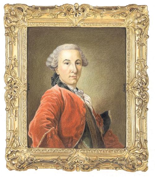 E Louis XV frame Van Loo 1756