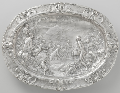 Paulus van Vianen Basin with scenes from the story of Diana and Actaeon 1613 Rijksmuseum sm