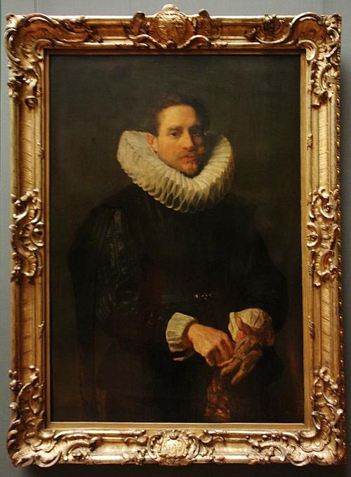 Van Dyck Portrait of a gentleman putting on his gloves Gemäldegalerie Dresden