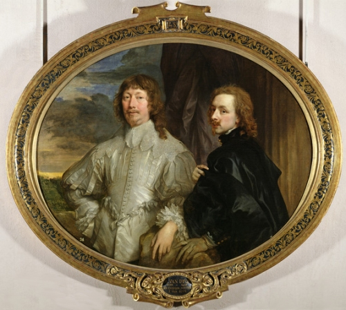 Sir Endymion Porter (1587-1649) and the Artist, c.1635 (oil on canvas)