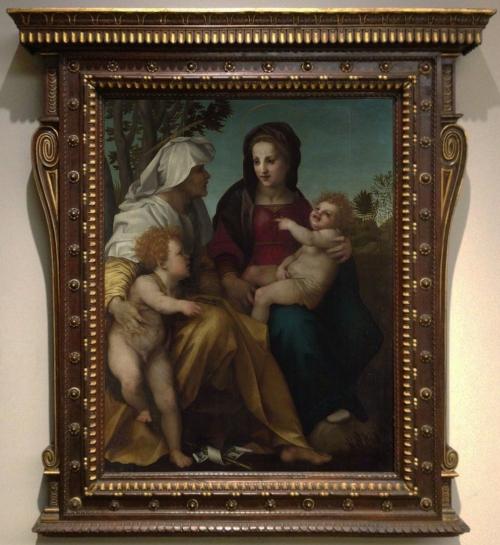 Andrea del Sarto Madonna & Child St Elizabeth & the Baptist c1513 NG17 ed