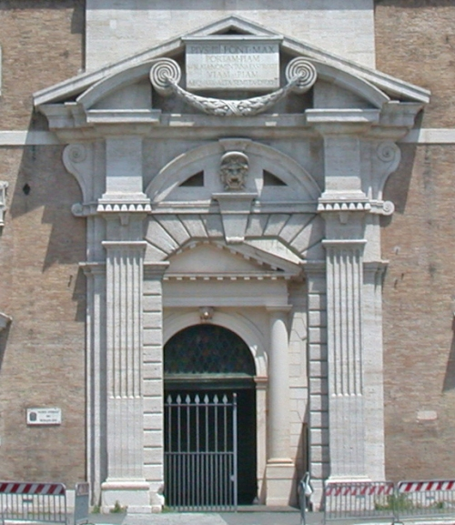 Doorway of Porta Pia