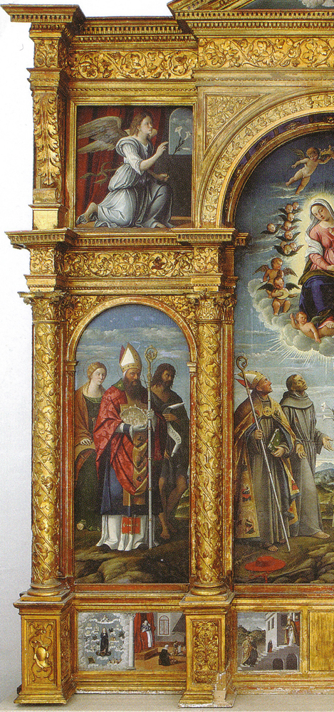 Girolamo da Santacroce Virgin & saints left sm