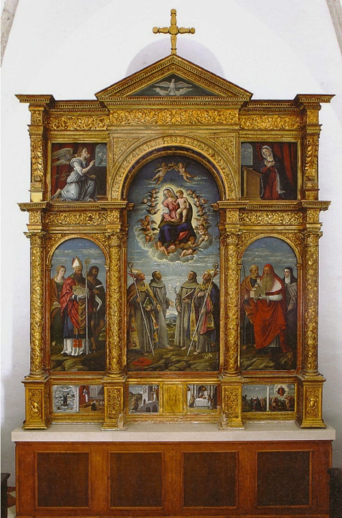 Girolamo da Santacroce Virgin & saints polyptych Franciscan convent 1535 Krk Kosljun 2