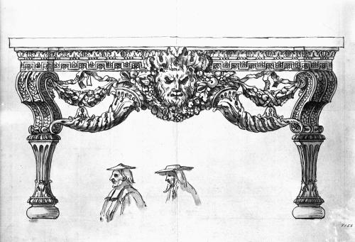 18 Design for side table for Houghton Hall William Kent V & A sm