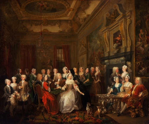 2 An assembly at Wanstead House William Hogarth 1728to31 Philadelphia Museum of Art sm