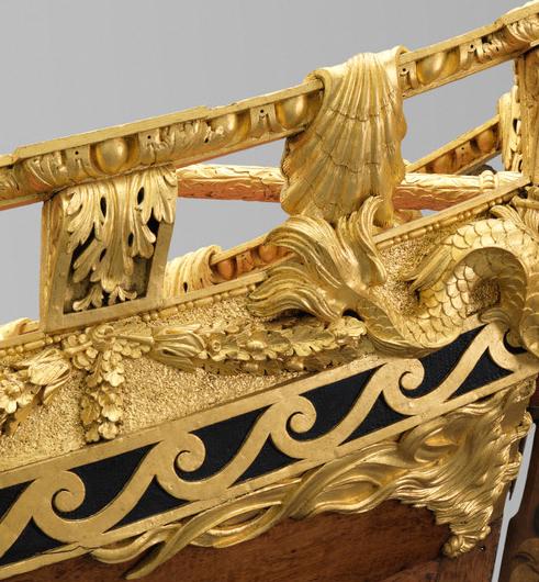 Royal Barge detail of bow rail