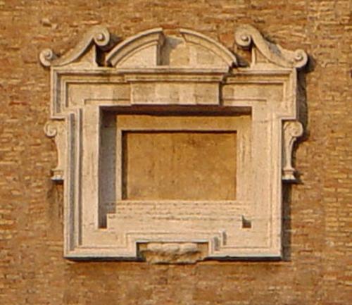 X MichAng Blind window Porta Pia Rome 1561to64