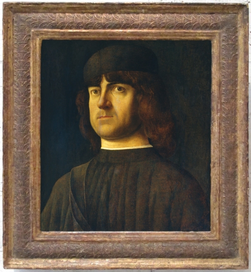 Alvise Vivarini Portrait of a man c1495 NG of Art Washington sm