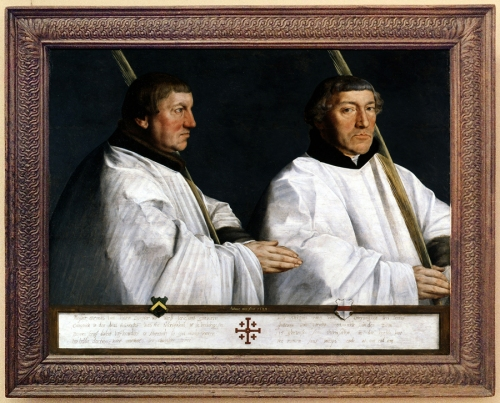 Antonis Mor Portrait of two canons 1544 Gemaldegalerie Berlin sm