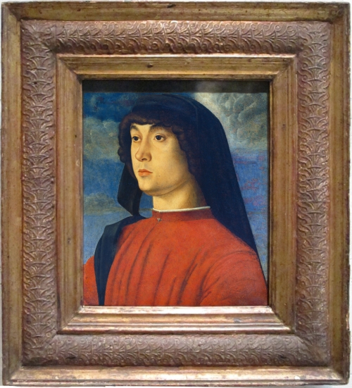 Giovanni Bellini Portrait of a young man in red c1480 NG of Art Washington sm