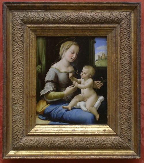 Raphael Madonna of the pinks NG6596 sm