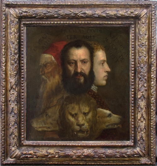 Titian Allegory of prudence current frame sm