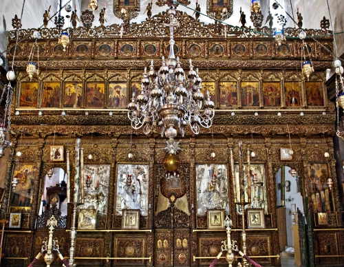Iconostasis Basilica of Nativity Bethlehem sm