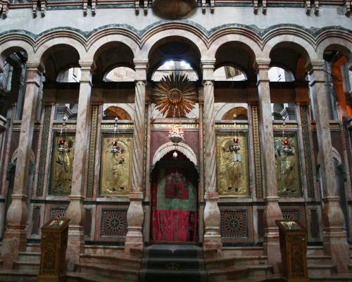 Iconostasis Ch of Holy Sepulchre Jerusalem sm