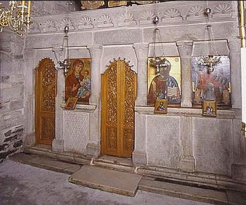 Iconostasis Chapel of St Nicholas Katapoliani Paros 1