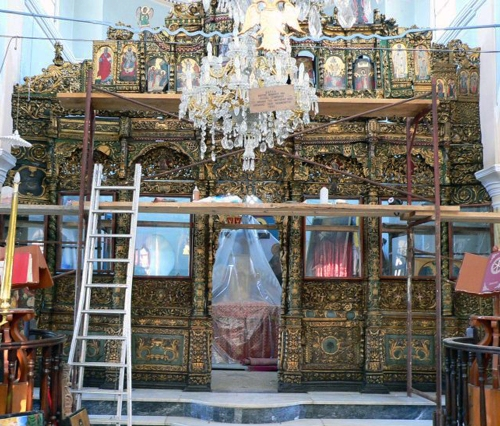 Iconostasis Stavros fr Chios 1800 Ch Virgin Mary Plakotousaina Nenita Chios sm