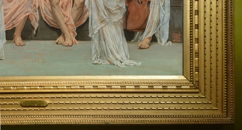 Albert Moore A Quartet A painter s tribute 1868 detail sm