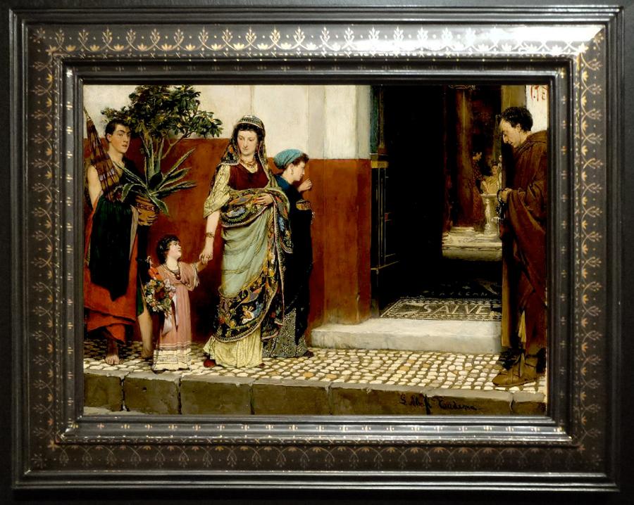 Alma Tadema Returning home from market 1865 sm
