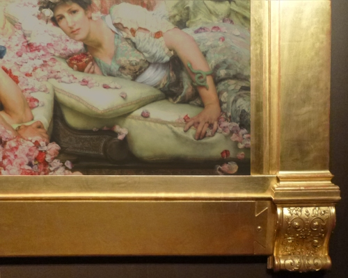 Alma Tadema The Roses of Heliogabalus 1888 bottom corner sm