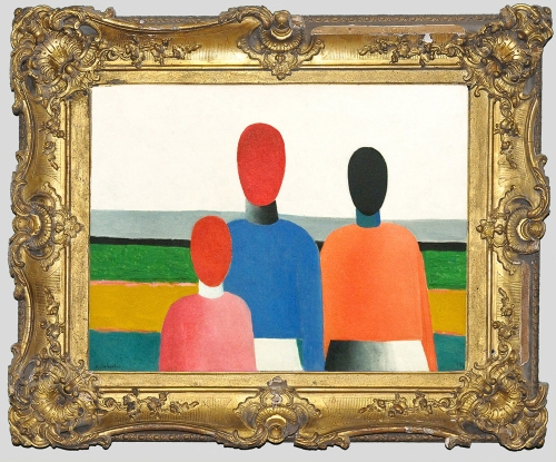 K Malevich Three female figures early 1930s Artist frame sm