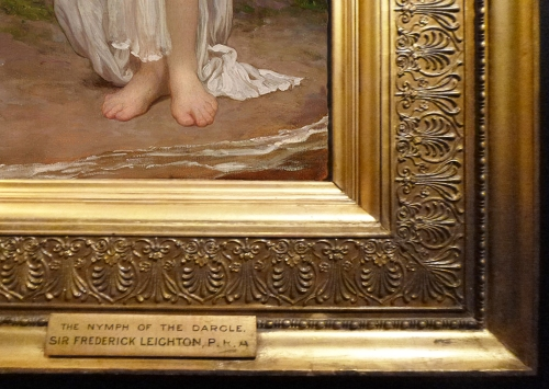 Leighton Crenaia the Nymph of the Dargle 1880 detail sm