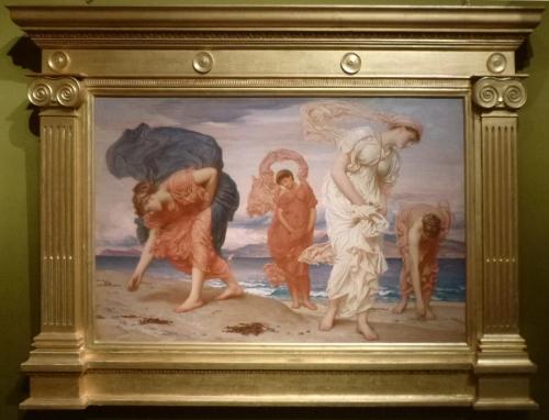 Leighton Greek girls picking up pebbles 1871 sm