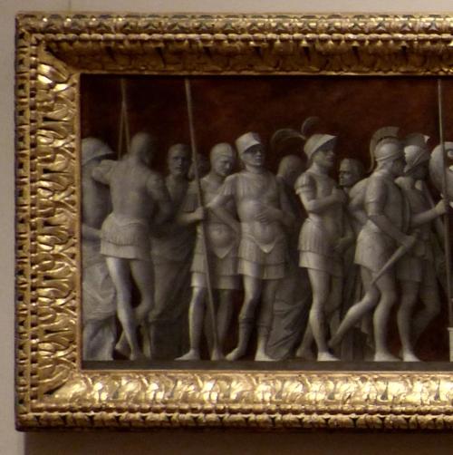Giovanni Bellini to Mantegna s design An Episode from the Life of Publius Cornelius Scipio detail