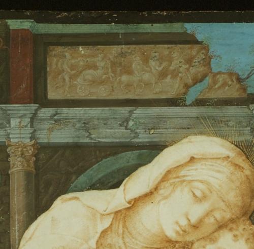 Mantegna Madonna della tenerezza detail