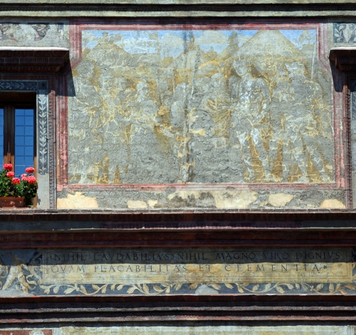 Mantegnas house fresco detail Mantua ed sm
