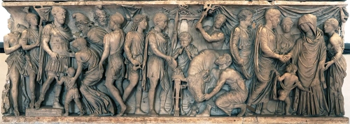 Roman sarcophagus C2 AD Palazzo Ducale Mantua sm