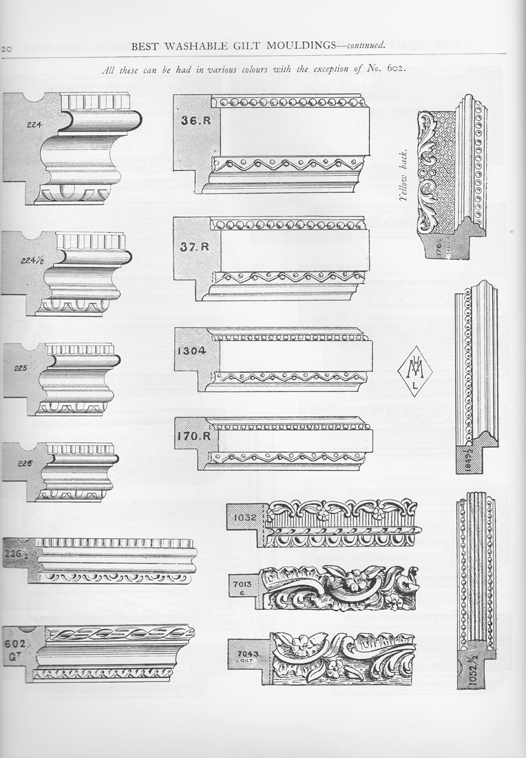 ... Dover Books as Victorian Wooden Molding and Frame Designs , 1992; p.20