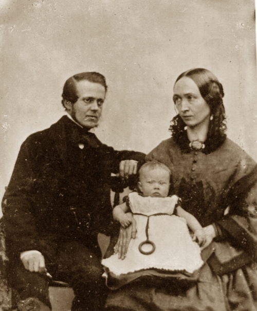 8 CHS &wife Mary nee Beck with eldest child MEBS 1858 ed sm