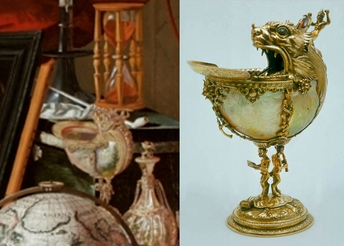 Nautilus shell cup Prinsenhof Museum in pic & life 2