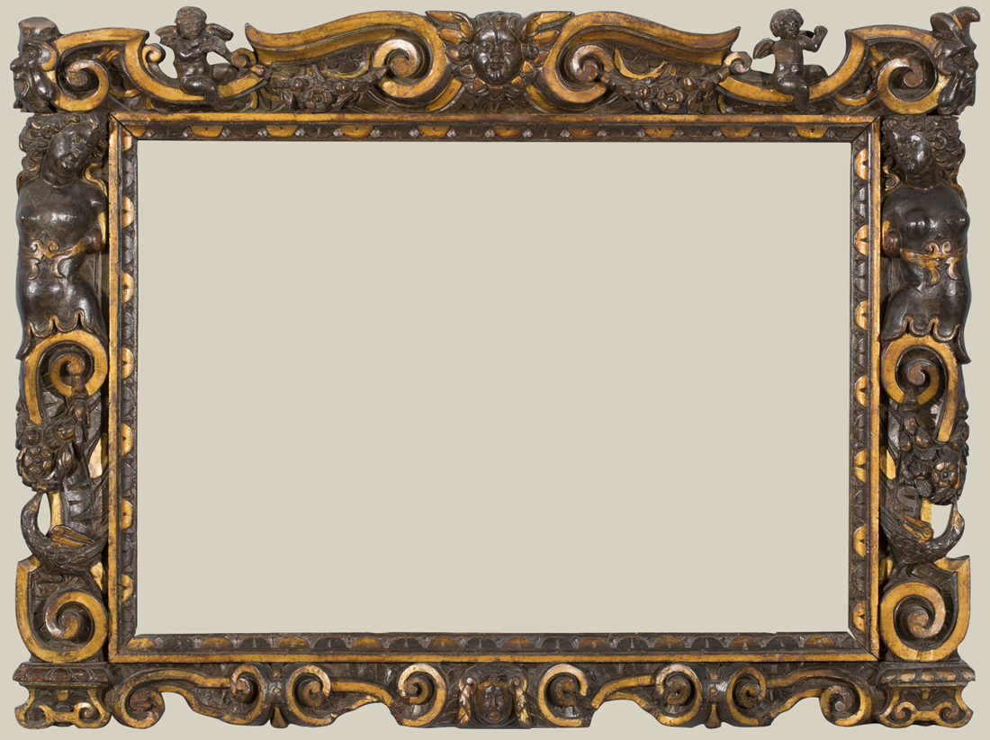 a carved and partially gilded sansovino frame 1560 80 frame 75 100 cm private collection photo the national gallery london courtesy the owner - Decorative Frames