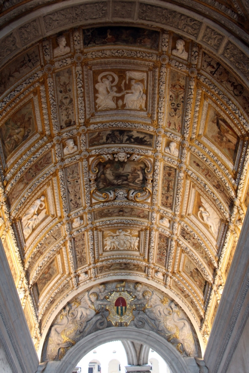 Alessandro Vittoria Ceiling of the Scala d Oro Palazzo Ducale Venice Photo Saliko sm