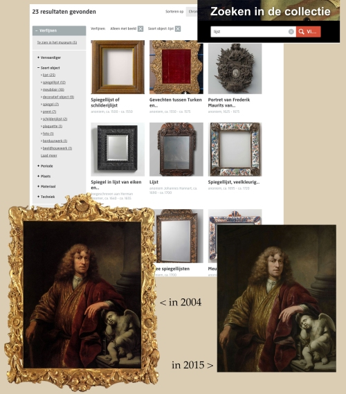 13 Rijksmuseum Search for lijst then lijst under materialen