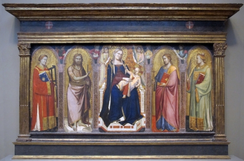Fig 1 Taddeo GaddiMadonna & Child enthroned with saints sm