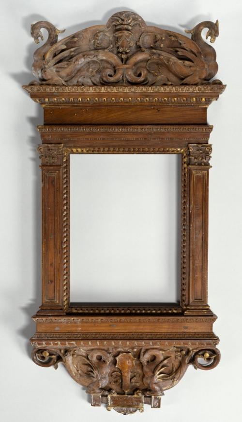 Italian walnut aedicular frame poss by del Tasso Met Mus NY
