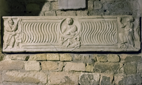 9 Sarcophagus of St Eusebiia ch of Saint Victor Marseille C4 AD reused C9 or C10 AD