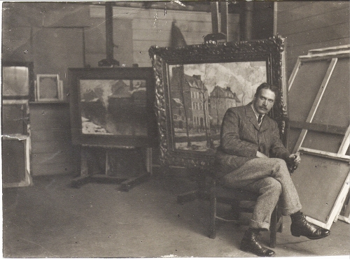 Lanyon Photo of Schofield in St Ives studio 1907 hi res cropped