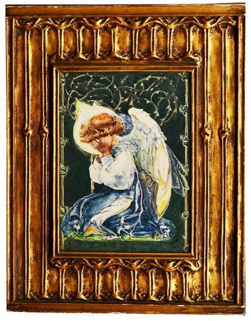 Pre Raphaelite School Kneeling angel