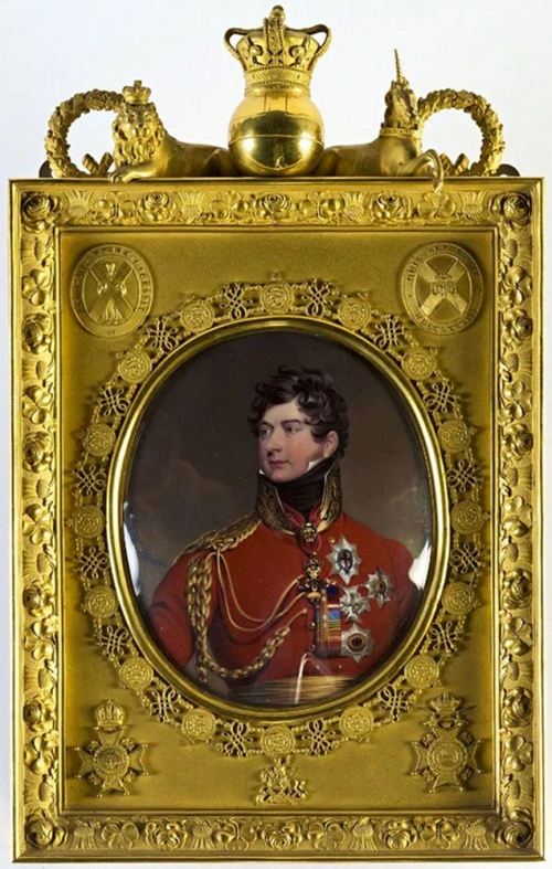 Henry Bone George IV after Sir Thos Lawrence s & d 1820 Burghley sm
