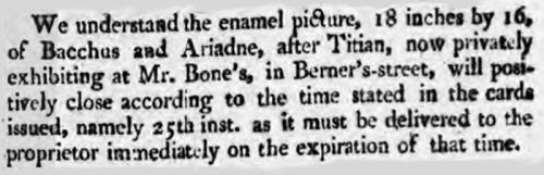Report of Bone exh of Bacchus & Ariadne Morning Post Thurs 23 May 1811 detail 3