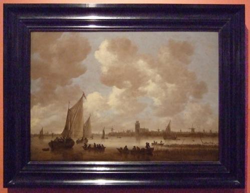 Jan van Goyen View of Dordrecht Ebony frame sm
