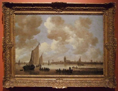 Jan van Goyen View of Dordrecht Gilt frame sm