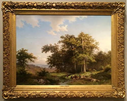 Louwrens Hanedddes 1822to1905 & Charles Rochussen 1814to94 A memory of the woods at Fontainebleau 1851 Amersfoort Museum sm
