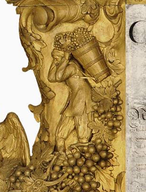 Trophy frame detail Grape picking