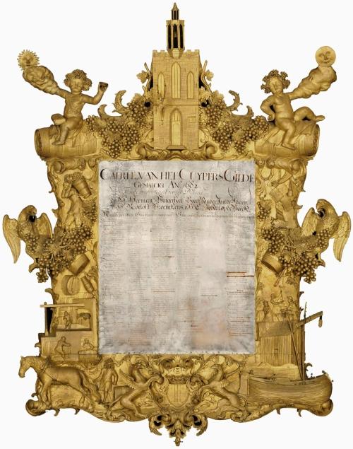 Trophy frame Vintners Guild d1682 Dordrechts Museum sm